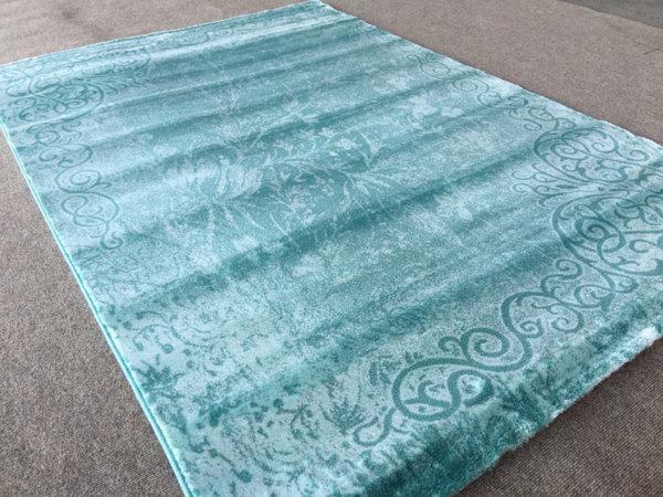 релефен килим ривиера 7300  тюркоаз